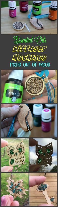 DIY Essential Oils Diffuser Necklace Made out of Wood -  The oil scent lasts a LONG time on wood!  http://iSaveA2Z.com