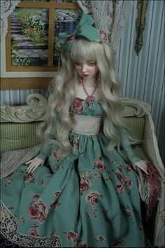 Bjd doll Cassie by Dale Zentner, BJD doll Aqua, Turquoise, Dolls Dolls, Pretty Dolls, Cassie, Alice In Wonderland, Sculpting, Porcelain, Clay