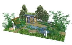 RBC Blue Water Roof Garden designed by Nigel Dunnett and The Landscape Agency