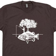 T Shirt pêcheur chasse poisson T Shirts de pêche par Shirtmandude