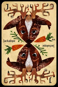 J is for Jackalope +++ What does Jack use for his hobbies? +++ illustration by Daniela Faber 2016 +++ quiz puzzle mythical creatures mythology beast bunny hare rabbit antlers American traditional fairy tale stories carrots tools screwdriver hamme monkey wrench drill
