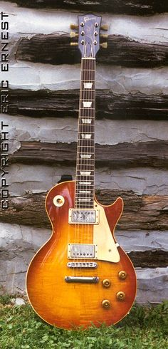 Owned by Gary Moore of Thin Lizzy.  1958 Gibson Les Paul Standard