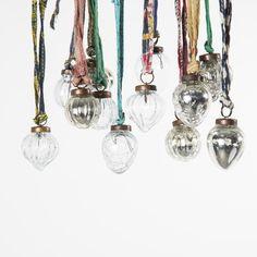 Dew Drop Glass Baubles Set Of 4