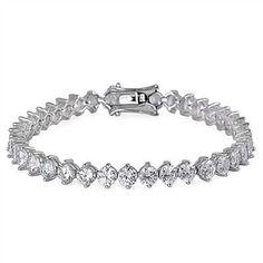 15.60TCW Russian Lab Diamond Tennis Bracelet Anniversary Birthday Wedding Gift