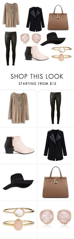 """Untitled #111"" by onebriones on Polyvore featuring Chicwish, AG Adriano Goldschmied, Nine to Five, San Diego Hat Co., Dolce&Gabbana, Accessorize and Monica Vinader"