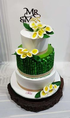 Bamboo Love with Calla Lilies by Michelle's Sweet Temptation