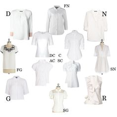Essential white blouse for Kibbe types by moara on Polyvore featuring polyvore, fashion, style, Viktor & Rolf, Dsquared2, rag & bone, Steffen Schraut, Nineminutes, Topshop, MANGO and ONLY