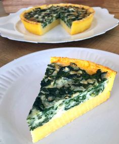 Quiche de Polenta and Spinach Veggie Recipes, Gourmet Recipes, Cooking Recipes, Healthy Recipes, Snack Recipes, Polenta Recipes, Masterchef, Good Food, Yummy Food