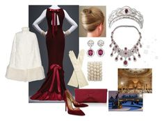 """""""King Nicolas Alexander and Queen Rose attend a Gala Dinner"""" by hm-queen-rose ❤ liked on Polyvore featuring Oscar de la Renta and Moncler"""