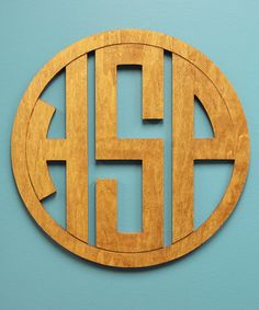 Look at this Unfinished Circle Monogram Wall Art on #zulily today!