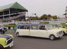 1963 stretched Mini limousine wedding car Ivory Paint, Wedding Car, Van, Vans