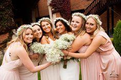 #bride #bridesmaids #flowercrowns #weddingday #weddingphotography #wedding