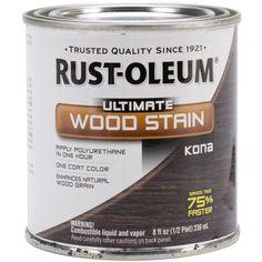 Rust-Oleum 260367 Ultimate Wood Stain, Half Pint, Kona