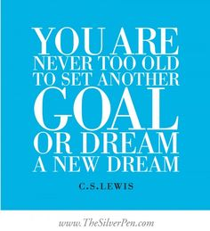Goals & Dreams - C.S. Lewis - Inspirational Picture Quotes About Life | The Silver Pen