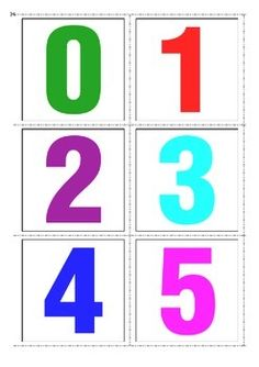 0-10 Numbers Flash Cards Preschool Math, Teaching Kindergarten, Math Skills, Math Lessons, Math Resources, Preschool Activities, Number Flashcards, Free Printable Numbers, Vocabulary Cards