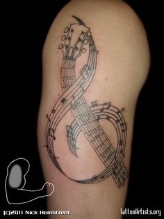 music tattoo: maybe just as the staff?