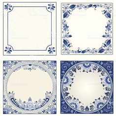 Idee: Dutch night event board Delft blue designs - room for text - or use elements separately for your design Delft Tiles, Blue Tiles, Design Room, Decopage, Blue Pottery, Free Vector Art, Vector Graphics, Blue Design, Free Illustrations