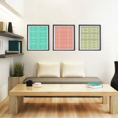 Aztec Series  8x10 or 11x14 Set of 3 by PomGraphicDesign on Etsy, $44.00 #homedecor #Decor #accentdecor #posters #discountedset #moderndecor #contemporary #midcentury #tribal #geometric #minimal