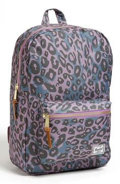 Trendy leopard on a classic Herschel Supply co backpack.