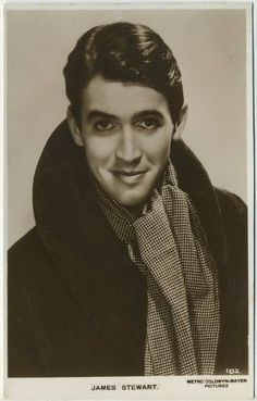 James Stewart 1930s Postcard - I have the biggest crush on him. Real talk.