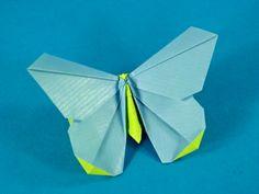 Origamido Schmetterling gefaltet aus Kraftapier