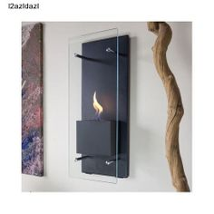 Wall Mounted Fireplace Bio Ethanol Fuel Adjustable Indoor Torch Heater Modern