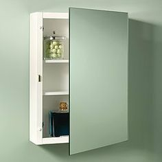 """NuTone 235P26WHX White Single Door Surface Mount Medicine Cabinet with Three Adjustable Painted Steel Shelves by Nutone. $100.84. NuTone 235P26X Framed White Medicine Cabinet Single Door Single Door Surface Mount Cabinets Model 235P26Mounting: Surface MountOverall Size: 16"""" X 26"""" X 5""""Rust Resistant Painted Steel Body3 Adjustable Painted Steel ShelvesPolished Edge Exterior Mirror Piano HingeReversible For Left Or Right Hand Opening"""