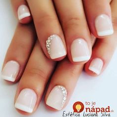 A pop of glimmer for your wedding day in the subtlest way. Nail Art at it's most delicate. wedding nails bridal nails bride manicure nail glitter Source by kldcevents Wedding Manicure, Wedding Nails Design, Nails For Wedding, Weddig Nails, Wedding Nails For Bride Natural, Bridal Nails Designs, Nail Art Weddings, Simple Wedding Makeup, Wedding Nail Polish