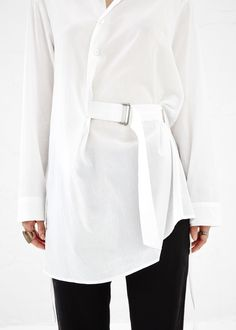 Ann Demeulemeester Belted Tunic (White)