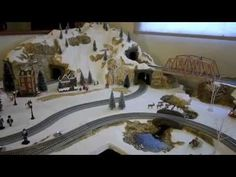 How to make a Christmas Village Railroad - YouTube