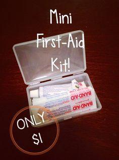 Mini First- Aid Kit: $1