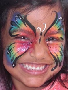 butterfly rainbow face paint