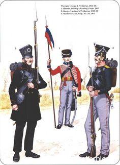 Prussian Reserve, Militia & Irregular Troops 1806-1815_ Foreign troops & Freikorps 1813-15 1-Hussar,Hellwig Raiding Corps 1813 2-Jaeger,Luetzow's Freikorps 1813-15 3_Musketeer,infantry Regiment 1815
