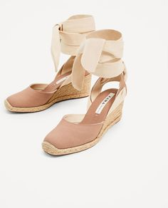 Image 6 of CONTRASTING TIED WEDGES from Zara