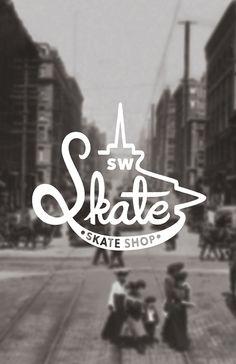 SW Skate skate shop branding by Ricky Lester, via Behance