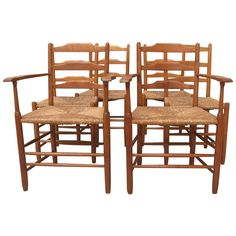 Dining Chairs Six Oak Clissett, circa 1904 1
