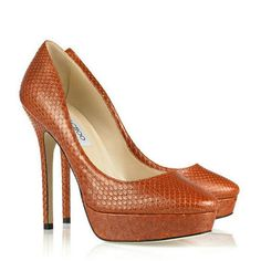 Jimmy Choo Cosmic Python Lether Pumps Rust Brown,Fioni Heels