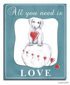 Poster All you need is Love di trattoPi su Etsy