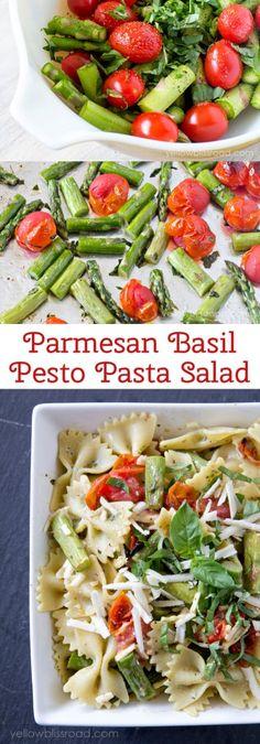 Parmesan Basil Pesto Pasta Salad