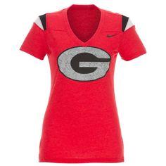 Nike Women's University of Georgia Football Replica T-shirt