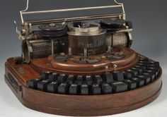 How would you like to work on this bad mamma-jamma? Lewis Carroll's type writer from 1888.