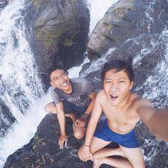 Maroon waterfall, malang, east java - indonesia