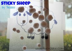 Sticky Sheep for Toddlers