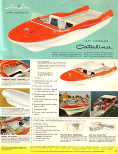 1950S Boats With Fins | Lone Star Boats And Trailers 1957 Boat Brochures Ads And Patents