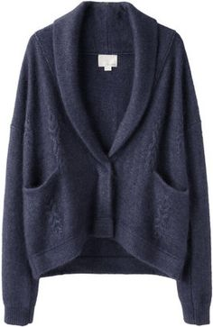 Girl by Band of Outsiders Chunky Cable Cardigan Band Of Outsiders