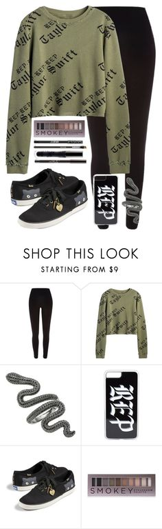 """. . ."" by afetgatter ❤ liked on Polyvore featuring River Island, Keds and Forever 21"