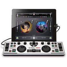 Ion iDJ2Go DJ Controller System for iPad, Silver