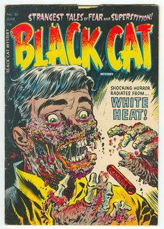 Black Cat. Vintage horror comic book.