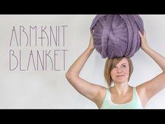 Knitting Blanket Tutorials - How to Make Large Chunky Blanket