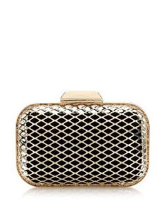 Jimmy Choo Cloud - Woven Metal Cage Clutch Bag